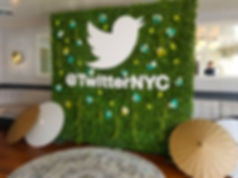 Living Wall with Custom Logo Placement & Flowers for Twitter NYC Summer Party!