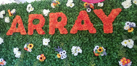 ARRAY Artificial Grass Wall Production