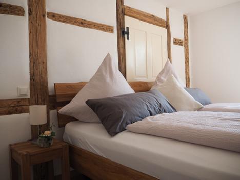 Kuschelige Schlafzimmer mit Fachwerk