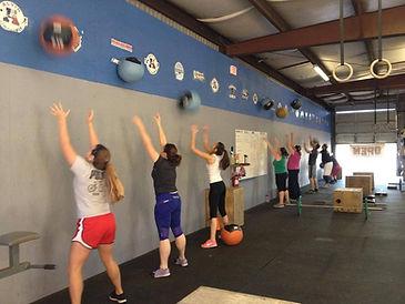 Wall balls at Alvin CrossFit