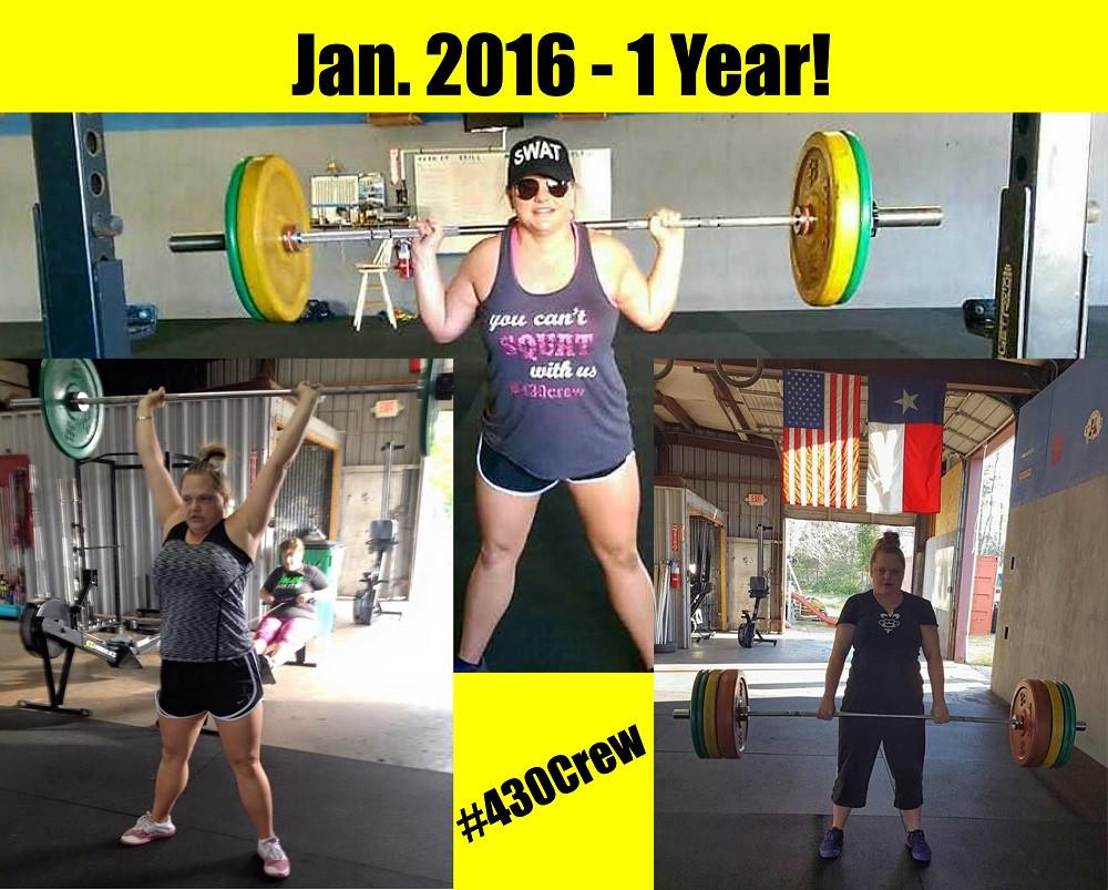 1 year CrossFit-aversary