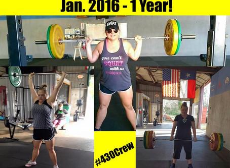 1 Year CrossFit-aversary: Lesa