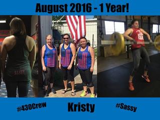 1 Year CrossFit-aversary, Kristy