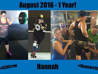 1 Year CrossFit-aversary, Hannah
