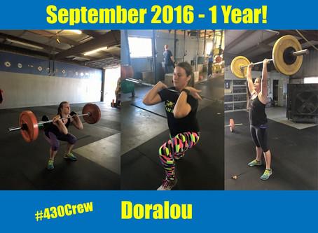1 Year CrossFit-aversary, Doralou