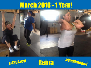 1 Year CrossFit-aversary, Reina
