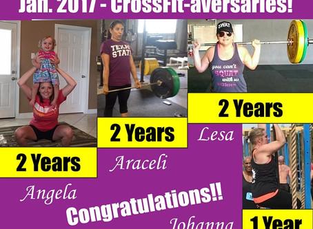 January 2017 CrossFit-aversaries!!