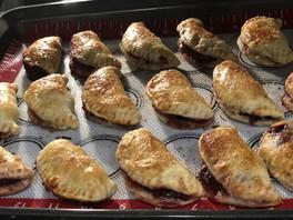 Food Recipe: Cherry Empanadas and burned fingers.