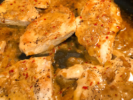 One Skillet Chicken With Lemon Garlic Sauce from Little Spice Jar
