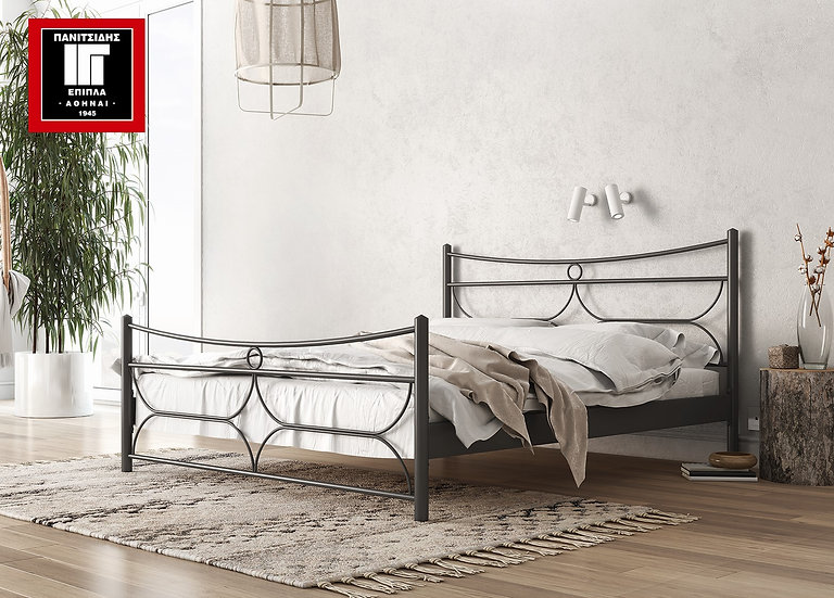 μονό μεταλλικό κρεβάτι 90Χ190/200