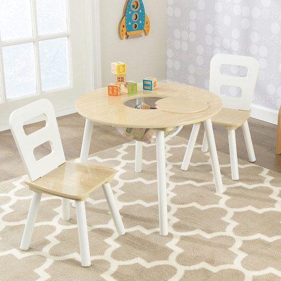 Round table and two chair set