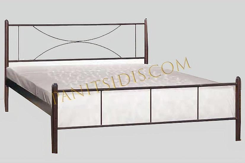 Dion 150 / διπλό μεταλλικό κρεβάτι