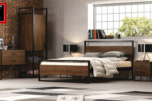 Julia 160 / διπλό κρεβάτι ξύλο μέταλλο
