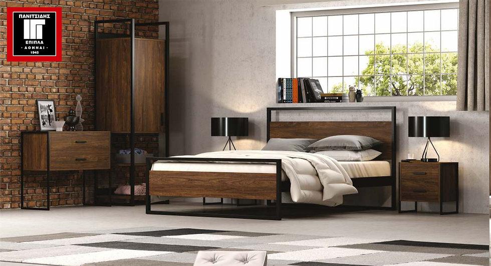 Julia / Κρεβάτι ξύλο-μέταλλο
