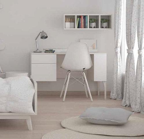 ξύλινο γραφείο σε πολλά χρώματα επιλογής σας μαζί με ράφι τοίχου.