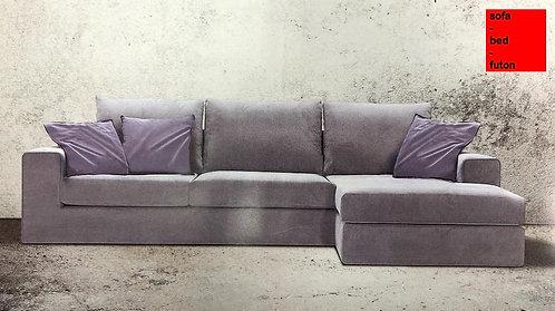 γωνιακός καναπές σε προσφορά 240Χ180 εκ., σε πολλά υφάσματα