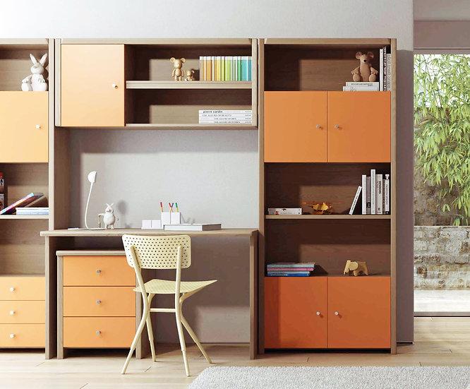 σετ ξύλινου γραφείου 120εκ., με 2 στήλες για το παιδικό νεανικό δωμάτιο, σε πολλά χρώματα