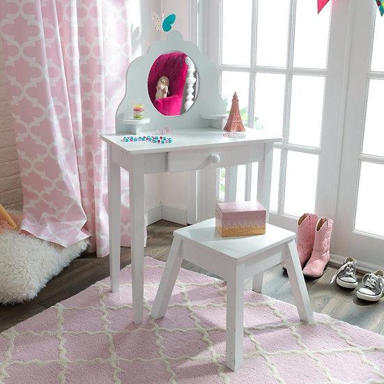 Medium vanity and stool