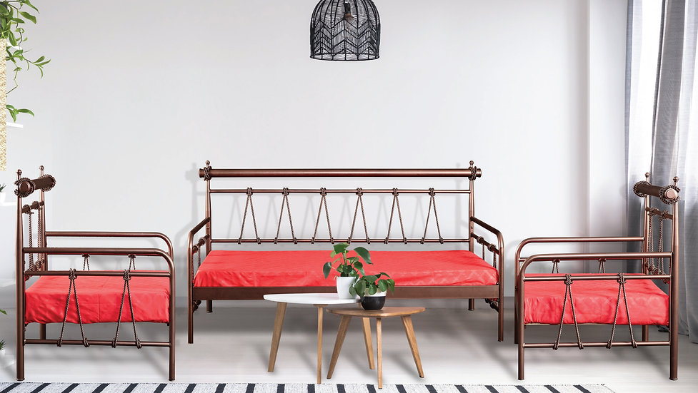 Lana Sofa / Μεταλλικός Καναπές Τριθέσιος