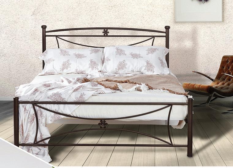 Οικονομικό set Κρεβάτι σιδερένιο με στρώμα 150x200