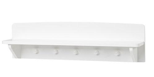 παιδική κρεμάστρα ράφι λευκή λάκα ξύλινη,παιδικό έπιπλο
