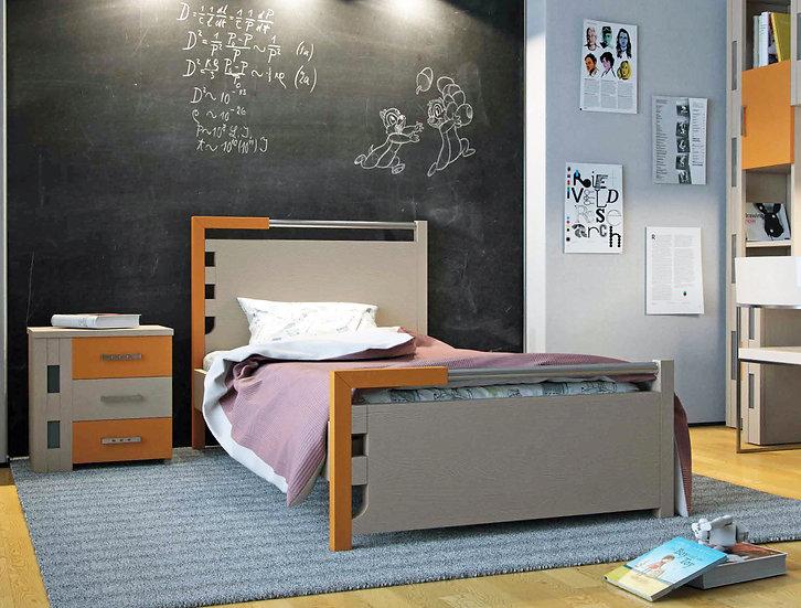 μονό ξύλινο κρεβάτι από ξύλο οξιάς για στρώμα 90Χ190