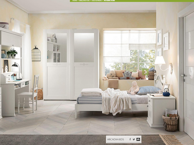 Selene / ξύλινο μονό κρεβάτι