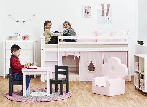 παιδική πολυθρόνα για κορίτσια σε απαλό ροζ ύφασμα με πιστοποιήσεις