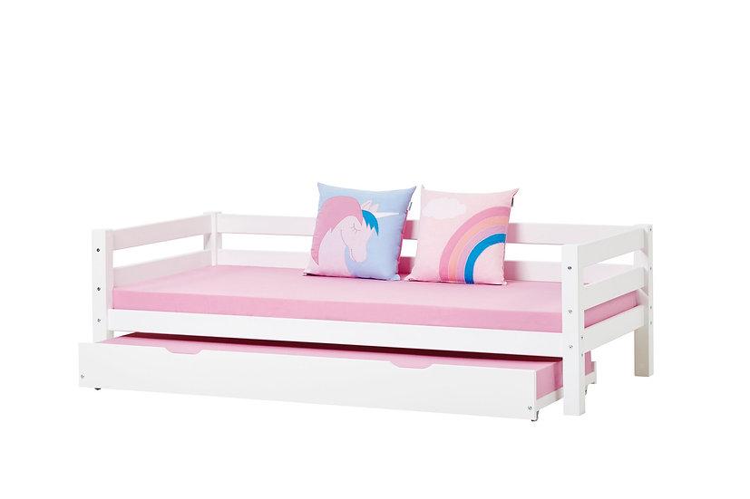 children beds Panitsidis Athens,Παιδικό κρεβάτι από ξύλο με πλάτη-καναπές και 2ο συρόμενο κρεβάτι
