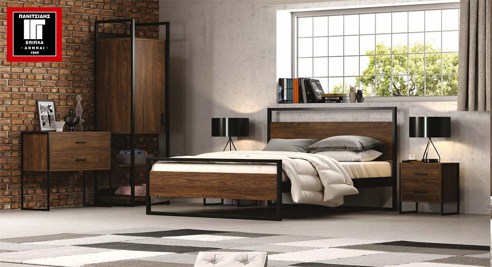 Julia 150/ διπλό κρεβάτι ξύλο-μέταλλο