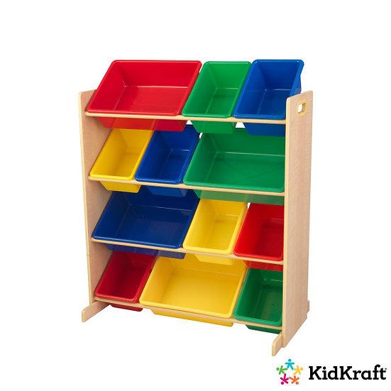 Σύστημα αποθήκευσης παιδικού δωματίου με ράφια και κουτιά kidkraft