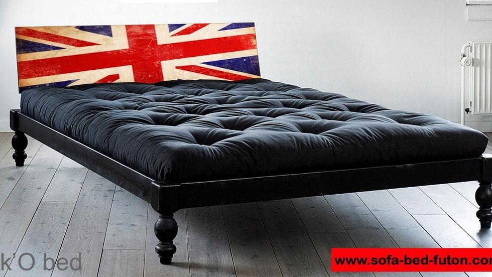 διπλό κρεβάτι για στρώμα 140Χ200, πλατφόρμα σε μαύρο χρώμα