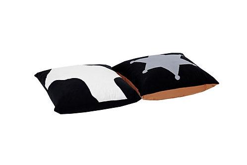 τετράγωνες μαξιλάρες από βαμβακερό ύφασμα για το παιδικό σας δωμάτιο