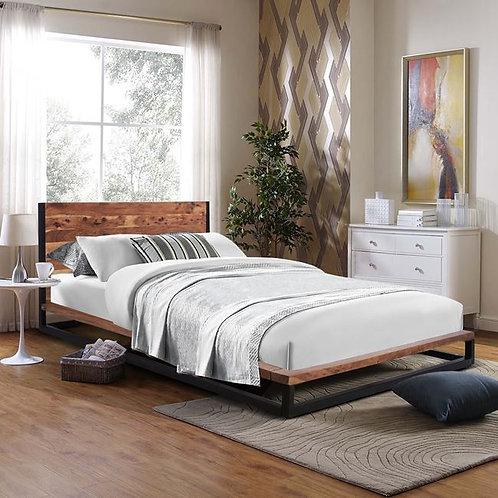 Ξύλινο διπλό κρεβάτι