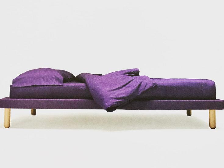 κρεβάτι πλατφόρμα διπλό ντυμένο με ύφασμα