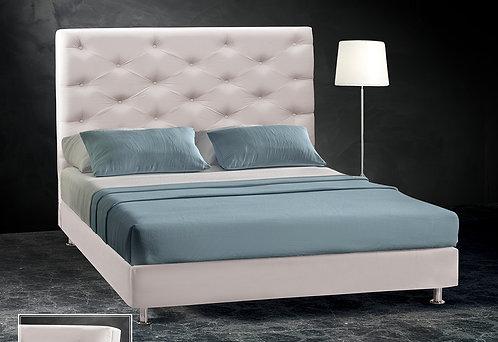 μονό ντυμένο κρεβάτι με ύφασμα για στρώμα 90 Χ 190/200 με ή χωρίς αποθηκευτικό χώρο
