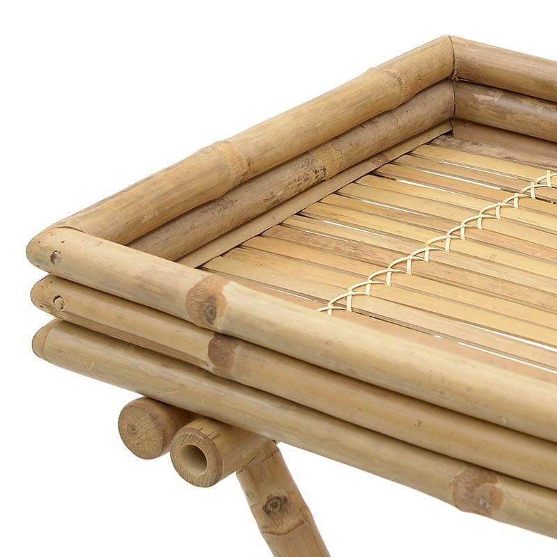 δισκοτράπεζο bamboo σερβιτόρος