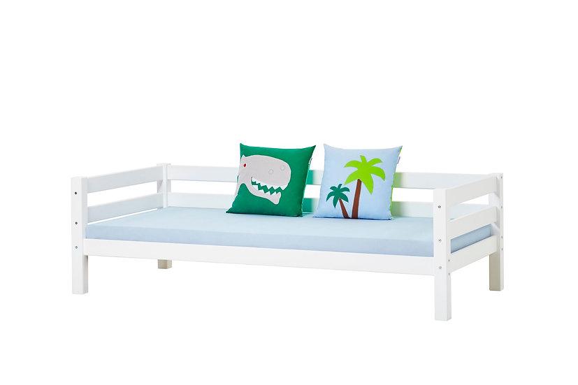 κρεβάτι από μασίφ ξύλο με πλάτη σε λευκό ξύλο,JUNIOR BED PANITSIDIS ATHENS HOPPEKIDS