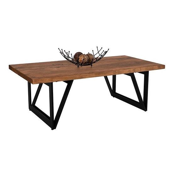 Τραπεζάκι σαλονιού ξύλινο με μεταλλικά πόδια