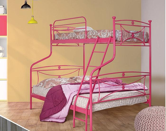 μεταλλική κουκέτα με μονό και διπλό κρεβάτι