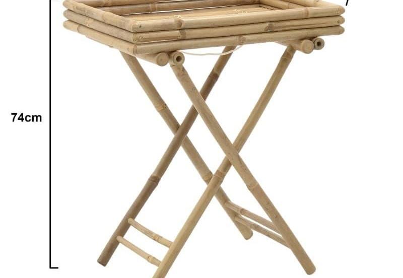 πτυσσόμενη βάση- δίσκος bamboo