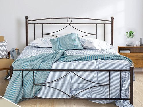 Οικονομικό set Κρεβάτι σιδερένιο με στρώμα διπλό
