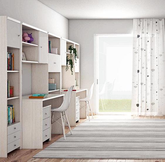 παιδικό νεανικό γραφείο και βιβλιοθήκες σε πολλά χρώματα και διαστάσεις