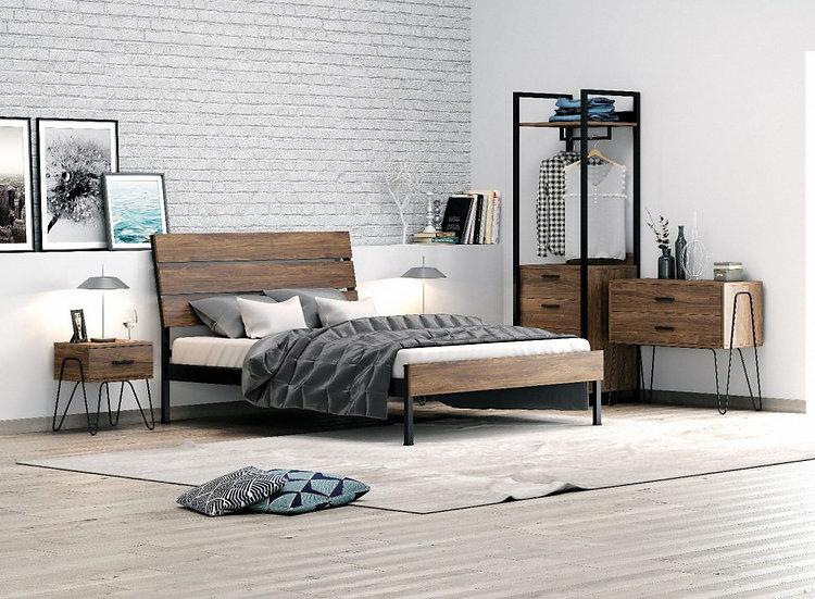 Ξύλινο-Μεταλλικό κρεβάτι