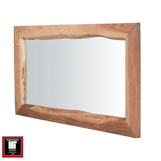 καθρέφτης από μασίφ ξύλο 140Χ80 εκ.