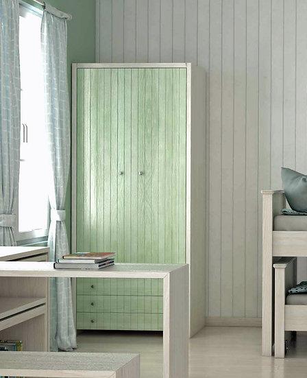 ξύλινηντουλάπα με 2 πόρτες και 3 συρτάρια για το παιδικό-εφηβικό σας δωμάτιο, σε πολλά χρώματα επιλογής σας