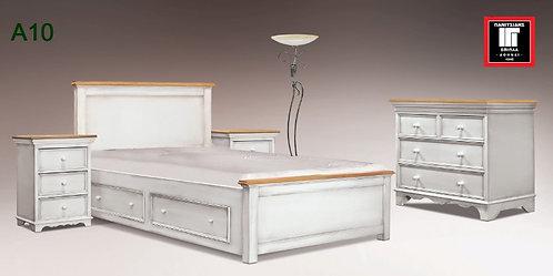 διπλό κρεβάτι 150Χ200 σε κλασσικό σχέδιο σε χρώμα πατίνας για οικίες για ξενοδοχεία