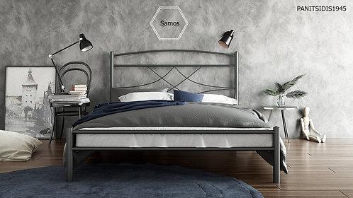 μονό μεταλλικό κρεβάτι για στρώμα 90 Χ 190/200 για ξενοδοχεία, ενοικιαζόμενα και airbnb