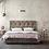 ντυμένο διπλό κρεβάτι με αποθηκευτικό χώρο για στρώμα 160Χ200