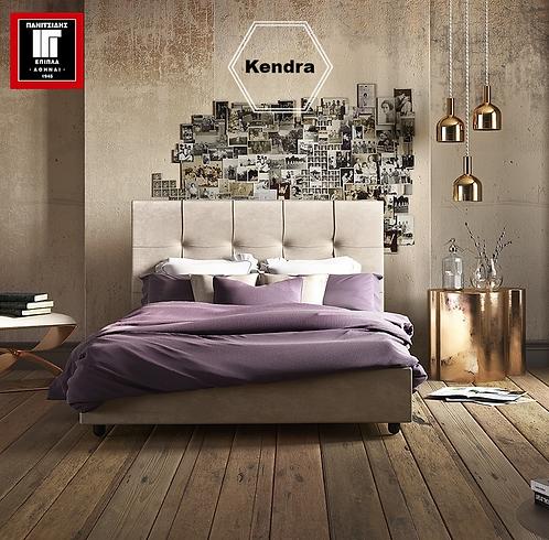 ντυμένο υπέρδιπλο κρεβάτι με αποθηκευτικό χώρο και ανατομικό τελάρο, για στρώμα 170Χ200 εκ., σε πολλά χρώματα υφάσματος